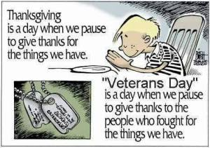 Veterans Day Thank you Cartoon