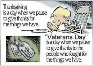 Veterans Day Thank you Cartoon